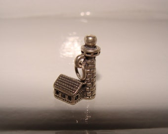 Lighthouse Silver Charm or Pendant