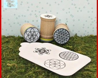 Flower of Life, Seed of Life, Metatron's Cube Trio Y023