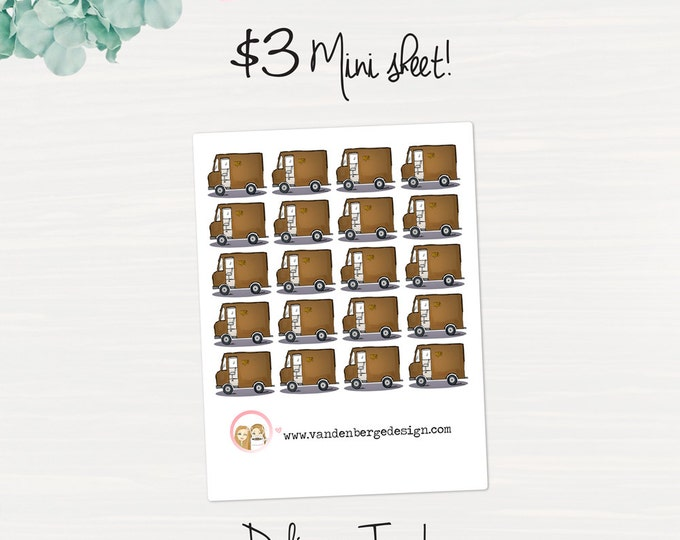 Delivery Truck Planner Sticker Sheet- 20 count -Perfect for all planners!