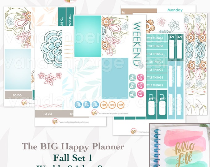 The BIG Happy Planner The Fall Set 1- Weekly Planner Sticker Kit forthe MAMBI BIG Happy Planner