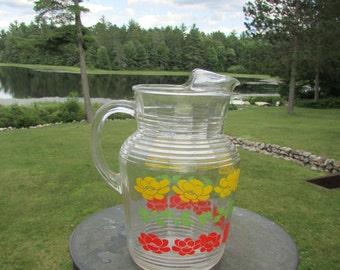 Marigold Glass Large Pitcher Vintage