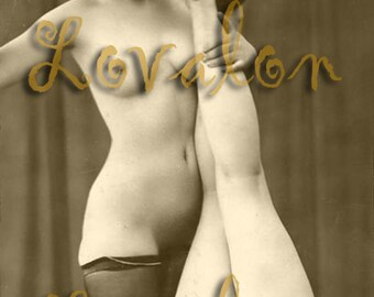 MATURE... Lusty... Instant Digital Download... 1930's Vintage Erotic Fetish Photography... Vintage Nude Photo