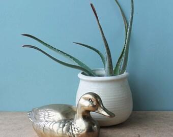 Vintage Brass Duck, Large Brass Duck