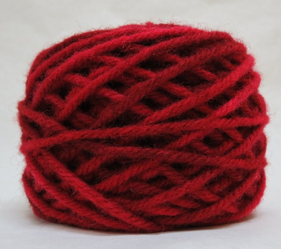RASPBERRY 100% Wool, 2 ozs 43 yards 4-ply Bulky weight and 3-ply Worsted weight yarn, already wound into cakes, ready to use, made to order.