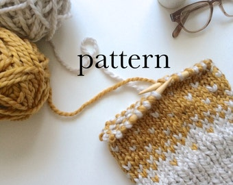 Knitting Pattern for Fair Isle Pom-Pom Beanie Hat With Photos | Instant Digital PDF Download