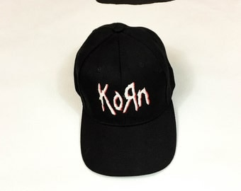 90s Deadstock Korn Adjustable Baseball Hat / Baseball Cap / Korn / Nu Metal /