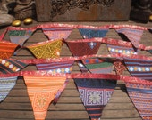 RESERVED FOR AKOSUA    Tribal Textile Bunting Double Sided 6 Yards (18ft) Beautiful Decoration Extra Long