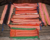 RESERVED FOR AKOSUA    Tribal Textile Upcycled Supply Pieces 14pcs Small Strap