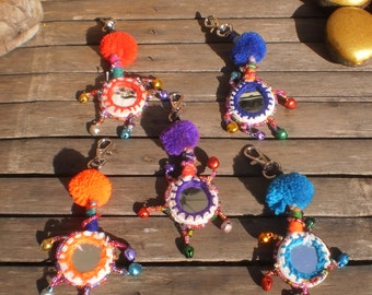 Hmong And Indian Mirror Keychains Set Of 5