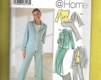 Simplicity  5867 Misses' Sporty Wardrobe Featuring Pants Or Shorts, Skirt, Jacket and Knit Top, Sizes 14 To 22, UNCUT
