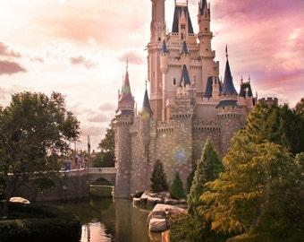 Disney Cinderella's Castle Print 8x10