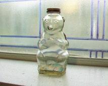 Snow Crest Bear Bank Bottle Vintage 1950s