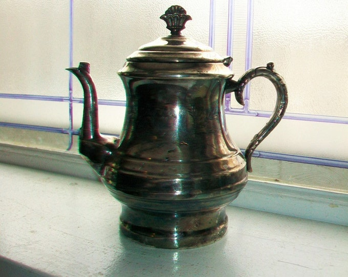 Antique Silverplate Tea Pot Aesthetic Style Anderson