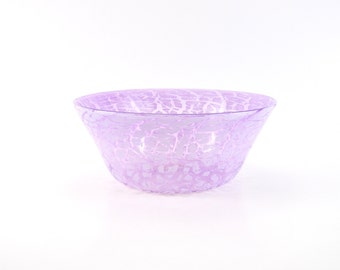 Medium Purple Blown Glass Bowl