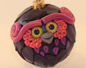 Neon - Polymer Clay Owl Ornament