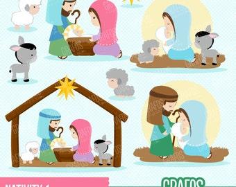 Nativity clip art | Etsy