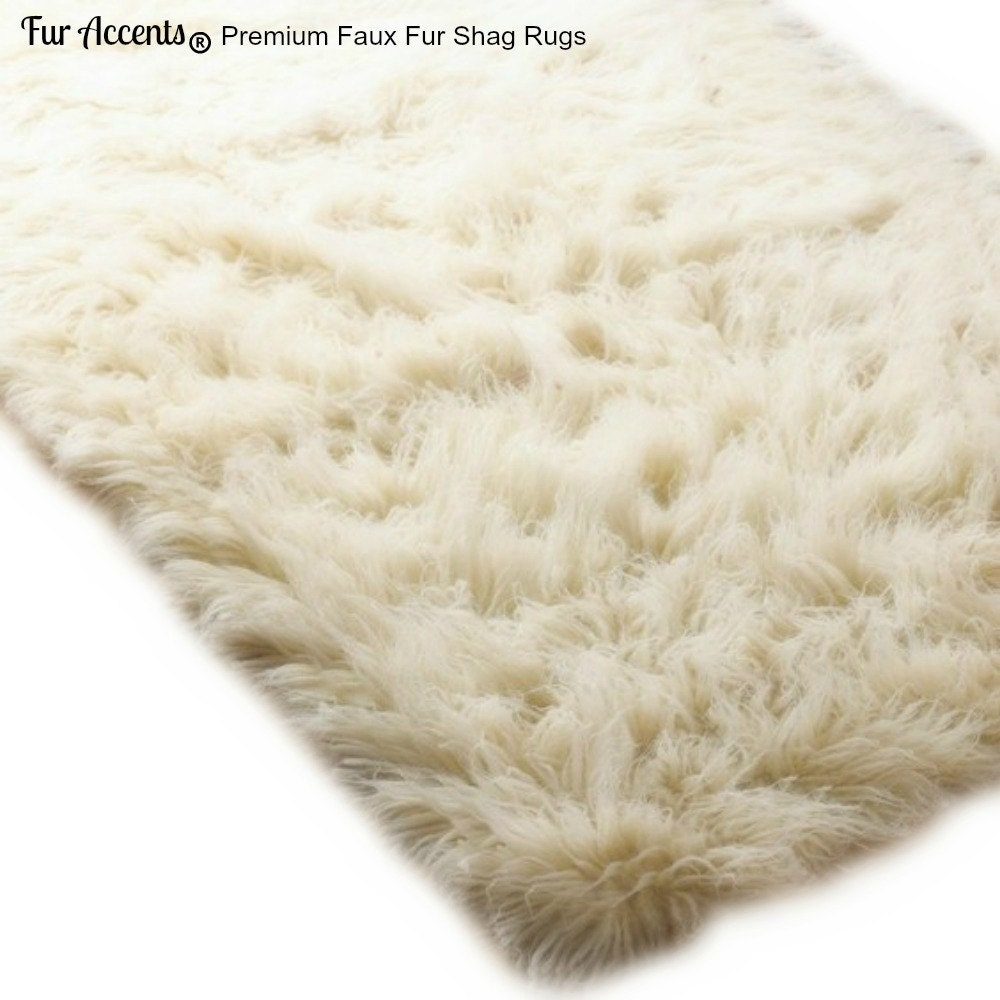 Faux Fur Area Rug Rectangle Shaggy Soft Ling Hair