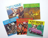 Gremlins Book and Record Series - 1984 Complete Set of 5