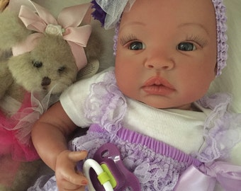 From the Biracial Shyann Kit  Reborn Baby Doll 19 inch Baby Girl Harmony Complete Baby Doll
