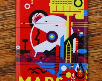NASA Mars Historic Sites Tours Available Poster Magnet