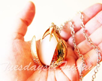 Golden egg, dragon egg locket, gold locket necklace, triwizard tournament, mermaid jewelry