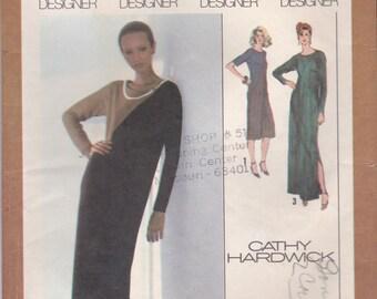 Designer Color Block Dress Pattern Simplicity 9135 Size 12 Uncut