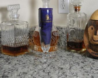 Vintage Budweiser Pilsner Glass, Millennium Gold Trimmed Footed Beer Glass, Clydesdale Portrait, Anheuser Busch, Barware, Budweiser Horses
