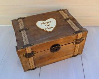Memory Box Keepsake Trunk Box Time Capsule Wood Trunk Personalized (LARGE)