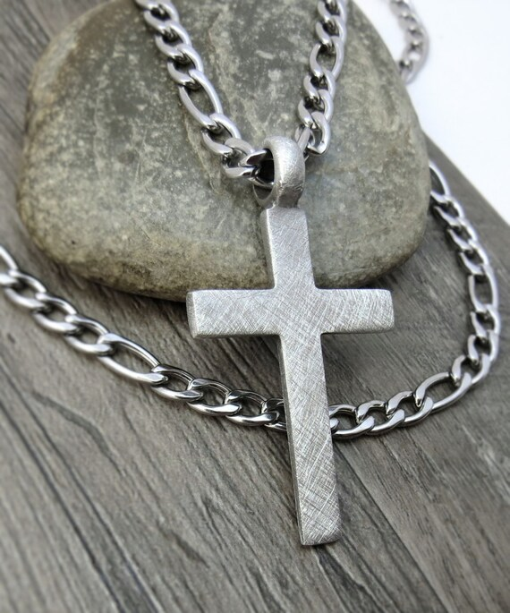 men 39 s cross necklace christian jewelry rustic cross