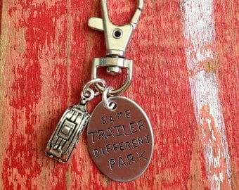 Same trailer different park  Keychain, RV, Camper, keyring, Trailer, Christmas Vacation, Cousin Eddie, National Lampoon