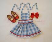Wizard of Oz Birthday Dress - Dorothy Wizard of Oz Costume - Dorothy Halloween Costume - Wizard of Oz Costume - Dorothy Pinafore Dress