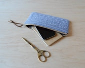 Zipper Clutch in Mesa Chambray - Pencil Case, Zip Pouch