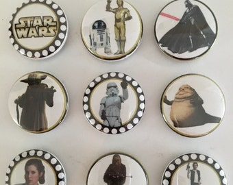 Star Wars Magnets, Pins and Necklace