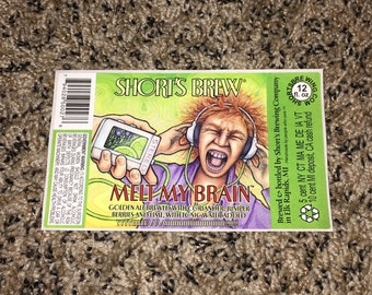 Back to the Future | Shorts Brewery | Melt My Brain Beer Label