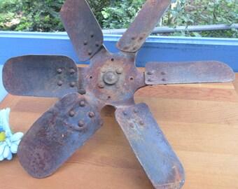 Rustic Home Decor Blade/Heavy Metal Blade/Antique Tool Blade/ Man Cave Fan Blade/Tractor Blade