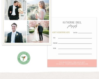 Gift Certificate Template - Gift Card - Photography Gift - MKI02