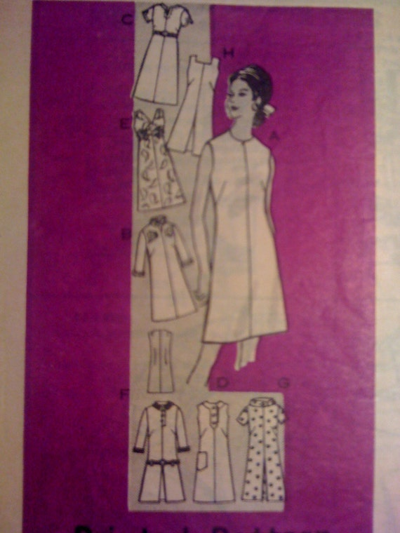 Parade Mail Order Sewing Pattern 9201 Vintage 60s Misses Dresses Size 20 1/2