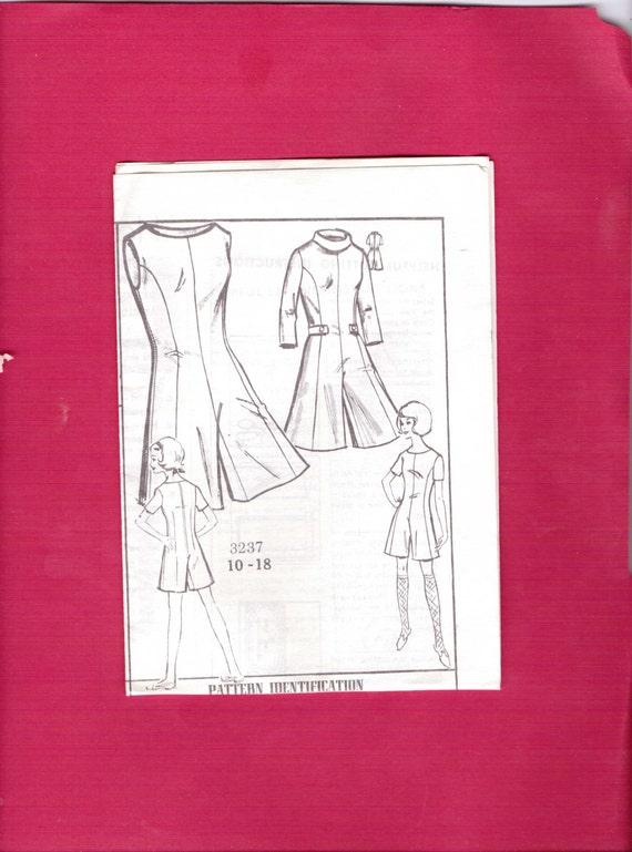 New Style The News Mail Order Sewing Pattern 3237 Vintage 70s Misses Pant Dress Size Medium 10-18