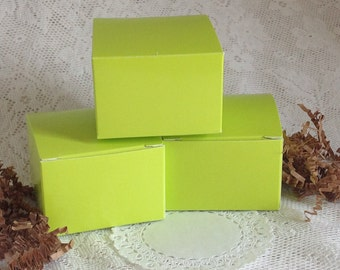 20 Lime Green Gift Boxes 3x3x2 box