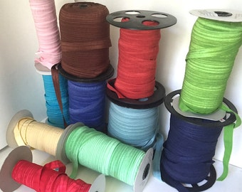 BULK Fold Over Elastic Ribbon Rolls - Sale - 1,205 Yards CLEARANCE - Wholesale FOE - Hair Tie Elastic Rolls - Etsy Shop Supplies