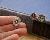 10pcs Ornate Celtic Floral Silver Shank Buttons 15mm (SB2833)