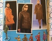 Uncut SIMPLICITY Lined Coat n Jacket Pattern no. 2812 - 2 Lengths with Collar Variations - Size 4 6 8 10 12