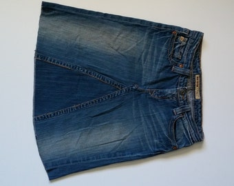 Ladies Upcycled Denim Skirt