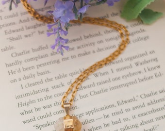 Citrine Nugget Gold Necklace