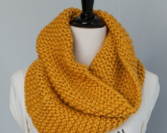 Extra Long Infinity Scarf, Chunky Knit Cowl - The Kronenburg