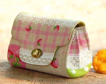 Clutch wallet with coin purse