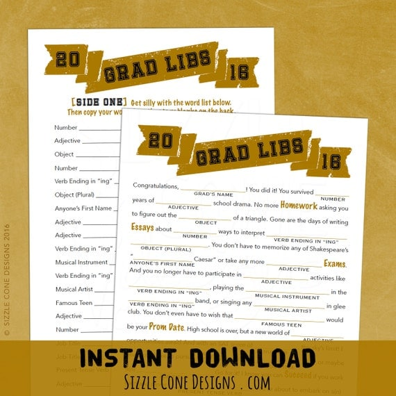 Crazy image within free printable graduation party games