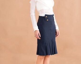 Sailor mood skirt // 90s // S/M size