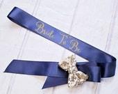 Bachelorette Sash..Bride To Be Sash / Bridal Party Sashes..Wedding Sash.Bridesmaid Sash. Maid of Honor Sash