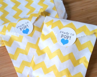 Ready to Pop! stickers - 1 inch circle stickers - baby shower envelope seals